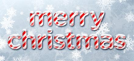 圣诞节字体抢先学!一起学习可爱甜美糖果字体