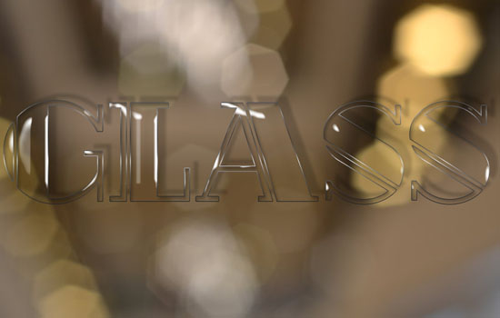 Shiny Glass Text Effect step 2