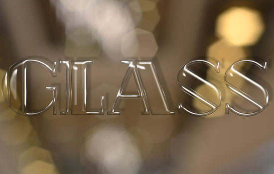 Shiny Glass Text Effect step 3