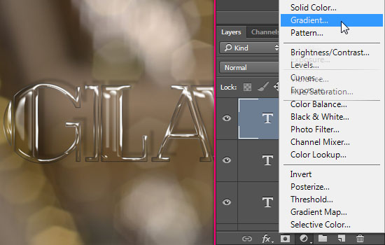 Shiny Glass Text Effect step 6