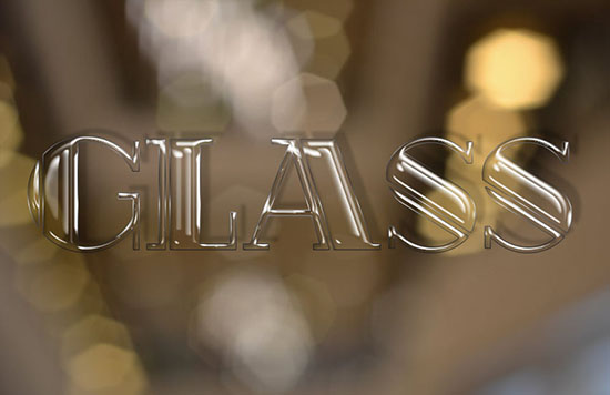 Shiny Glass Text Effect