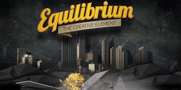 Equilibrium 多边形网页设计Polygon web design