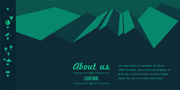 Letters Inc. 多边形网页设计Polygon web design