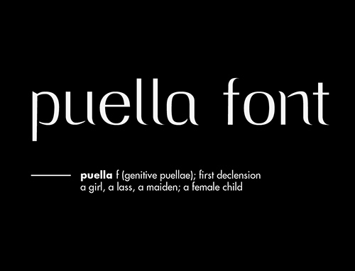 Puella free fonts for designers