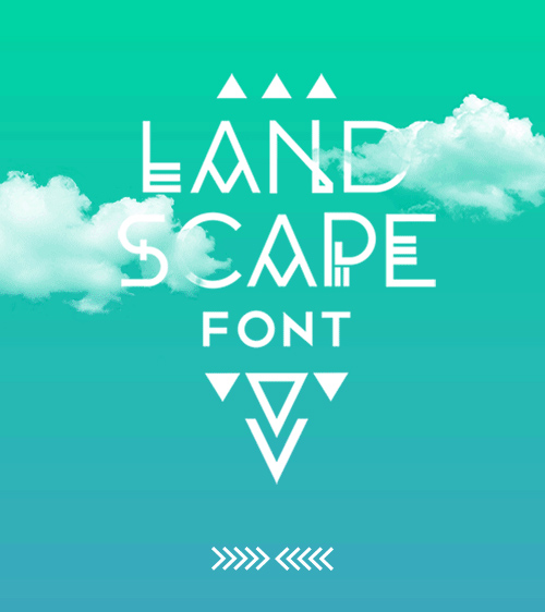 Landscape free fonts for designers