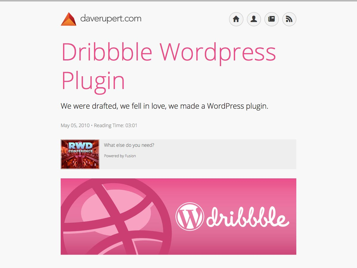Dribbble WP Plugin