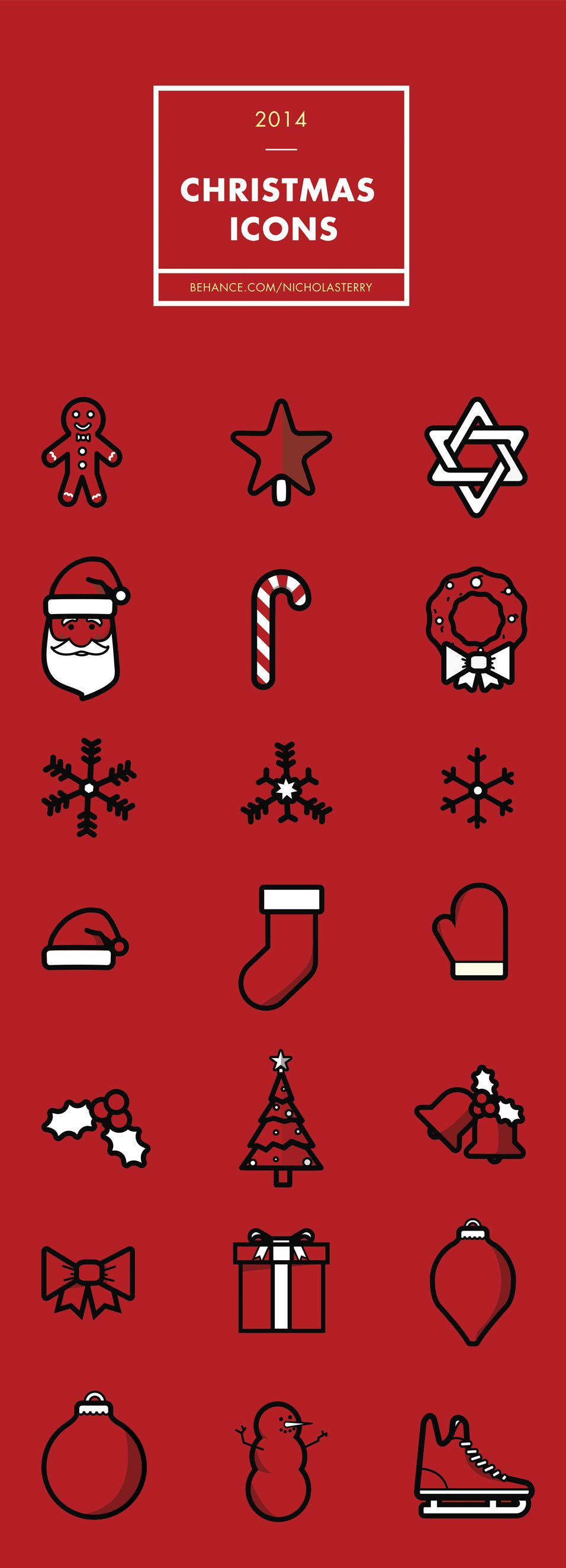 21 Vector Holiday Icons