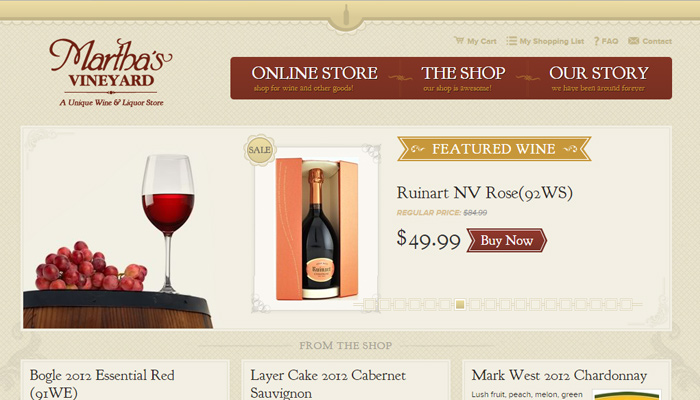 martha vineyard massachusetts homepage layout