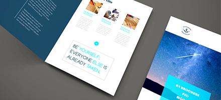简单而优雅!精美企业宣传册模型PSD免费下载
