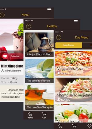 美食APP GUI移动UI界面设计