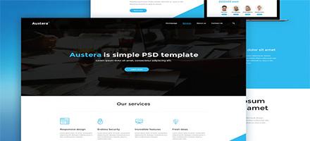 爆款来袭!Austera WEB模板PSD免费下载