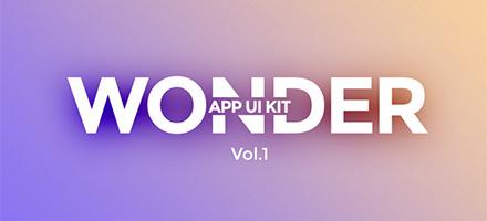 品质好货!Wonder App UI Kit PSD免费下载