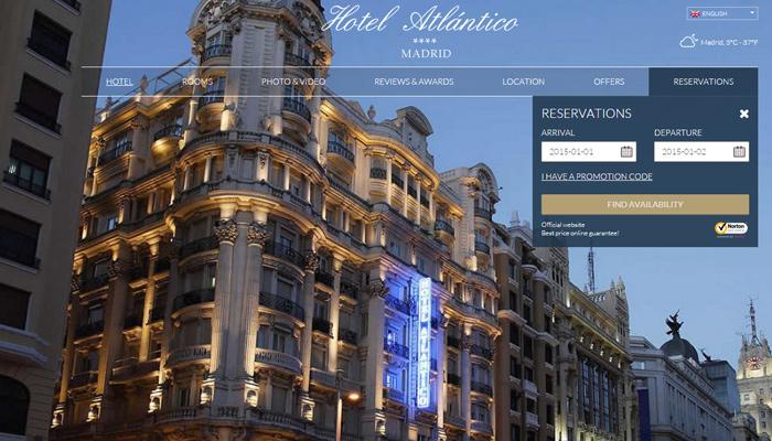 madrid spain atlantico website fullscreen background