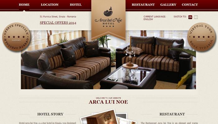 arca lui noe hotel chain website homepage