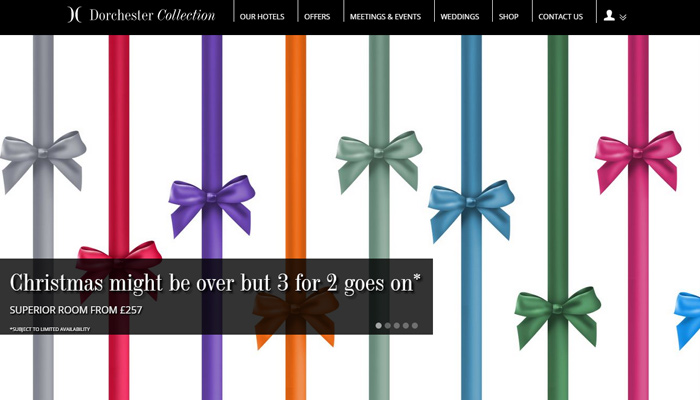 dorchester collection of hotels website inspiration