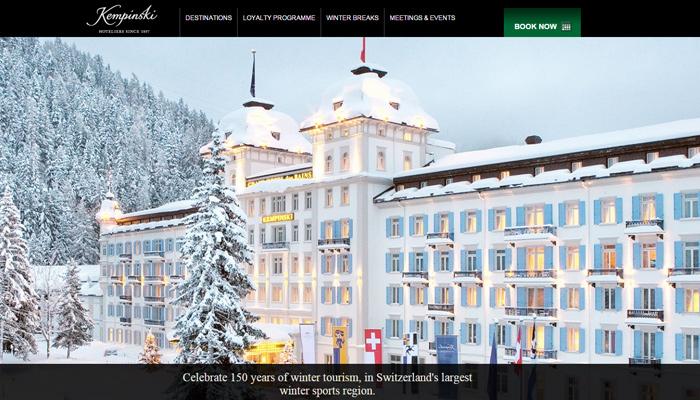 kempinski hotel website inspiration
