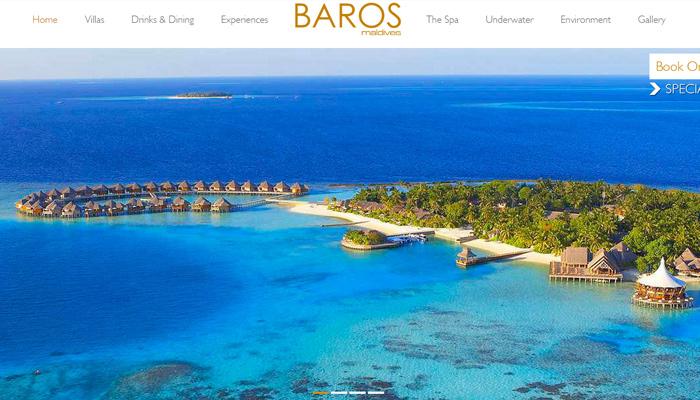 maldives baros resort hotel website