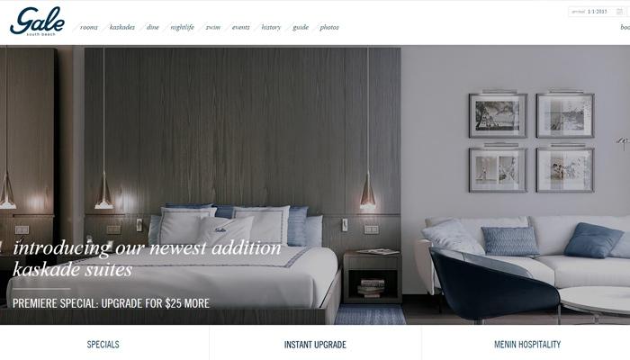 south beach hotel gale website homepage