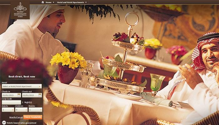 flora group hotels website compilation
