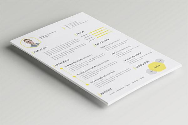 Free PSD CV/Resume Template by PSDboom