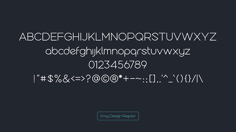 查看《免费英文字体下载 Gray Design Free Typeface》原图,原图尺寸:800x449