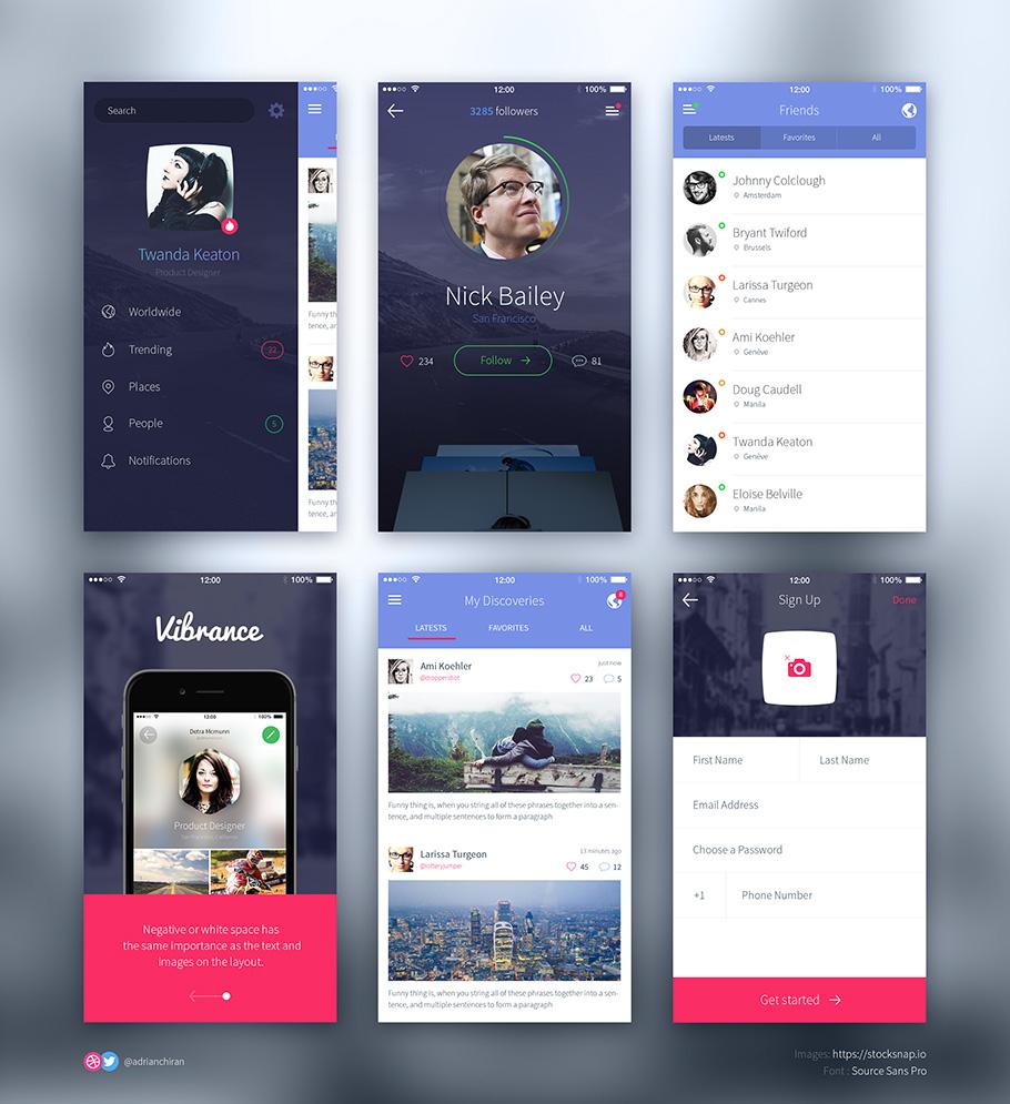 iPhone 6 UI kit PSD