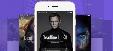 不信你不看过来!Deadline UI Kit重磅来袭PSD免费下载