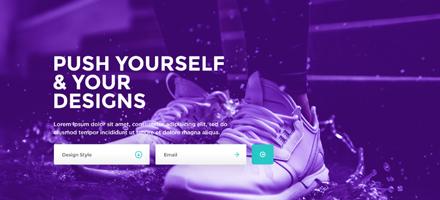 下载过都说好!现代新鲜的紫色PSD网站模板