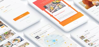 进来有惊喜!完整Cook App 20个UI页面psd下载