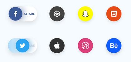 实用社交分享元素图标